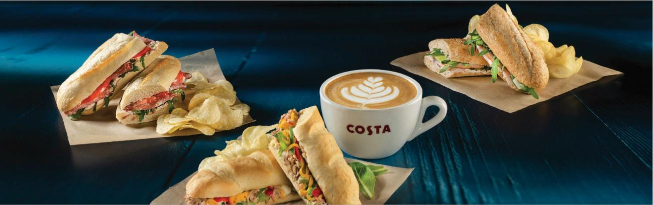 Costa Coffee Cyprus Sandwiches