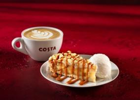 Costa Apple Pie with ice-cream