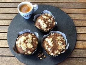 Banana Muffin with Oat Crumble Topping